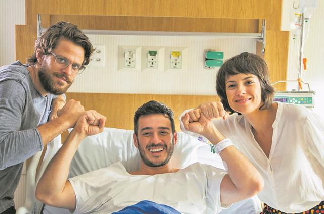 """Alejandro Claveaux, Marcos Veras e Andreia Horta em """"Segredos de Justiça"""", do 'Fantástico' (Foto: Globo/ Raquel Cunha)"""
