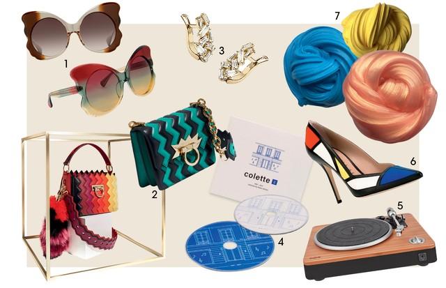 De geleca a Mondrian, tudo para um presente original no Dia dos Namorados  1. Sucesso nos anos 70, a grife Linda Farrow foi reativada pelo filho da designer, Simon, e acaba de lançar linha de óculos-borboleta em parceria com o estilista Matthew Williamson (Foto: Reprodução )