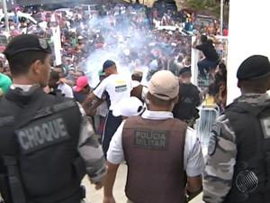 fonte nova confusão (Foto: Reprodução / TV Bahia)