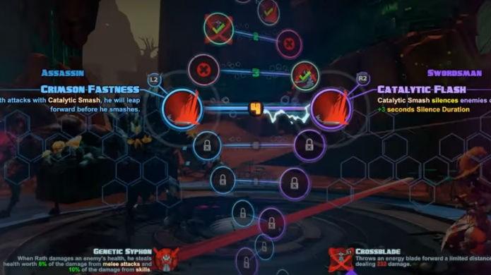 Battleborn permite customizar os poderes dos heróis (Foto: Divulgação/Gearbox)