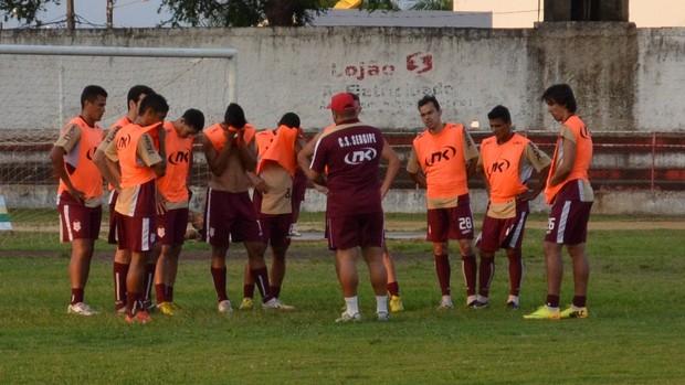 Sergipe finalizou preparação para duelo das oitavas (Foto: Felipe Martins/GLOBOESPORTE.COM)