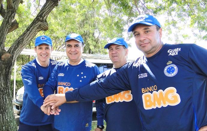Juvenilson, Marcelo Oliveira, Tico e Ageu, Cruzeiro, Mosqueteiros (Foto: Maurício Paulucci)