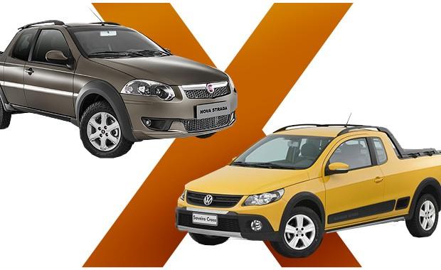 Fiat Strada ou Volkswagen Saveiro: Qual comprar? (Foto: Autoesporte)
