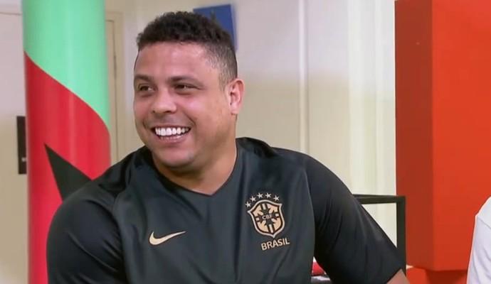 Ronaldo Fenômeno  em entrevista para o Esporte Espetacular (Foto: Reprodução TV Globo)
