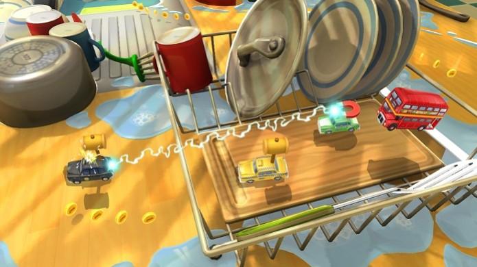 """Toybox Turbos traz o """"espírito"""" de Micro Machines, com miniatura de carros e armas (Foto: Divulgação) (Foto: Toybox Turbos traz o """"espírito"""" de Micro Machines, com miniatura de carros e armas (Foto: Divulgação))"""