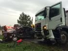 Homem morre em acidente entre carro e caminhão em União da Vitória