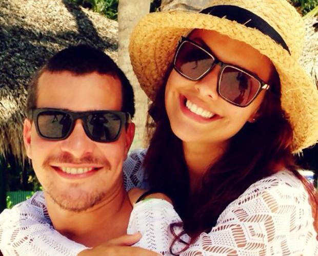 Paloma Bernardi curte temporada no Rio com o namorado Thiago Martins (Foto: Arquivo Pessoal)