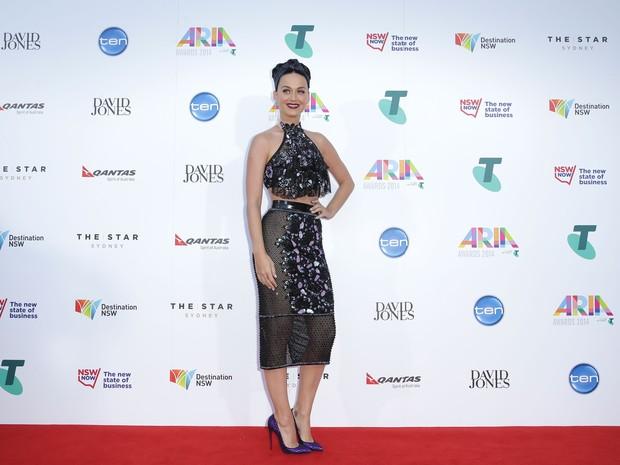 c587adb6eda8e Katy Perry em prêmio em Sydney, na Austrália (Foto  Mark Metcalfe  Getty