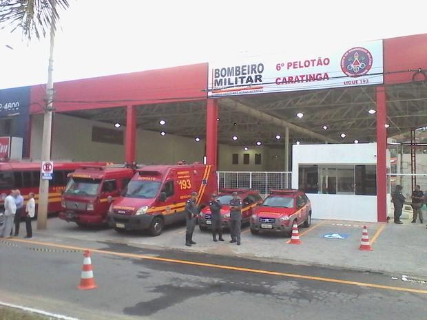 Sede do 6º Pelotão dos Bombeiros foi inaugurada nesta terça-feira, em Caratinga. (Foto: Divulgação/Bombeiros)