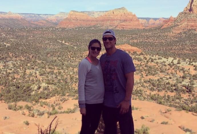 Yan Gomes e a esposa Jenna Beisebol (Foto: Instagram)