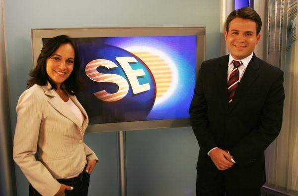 Sayonara Hygia e Lyderwan Santos (Foto: TV Sergipe/Divulgação)