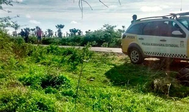 Acidente aconteceu na RN-233, nas proximidades da cidade de Paraú (Foto: Francisco Coelho/Focoelho.com)
