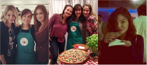 Pizza saudável: as atrizes Luma Costa, Mariana Ruy Barbosa, Milena Toscana e Isis Valverde são fãs de pizza sem glútem,sem lactose e de massa integral (Foto: Reprodução do Instagram)