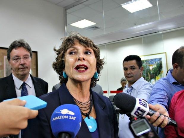 Deputada federal Érika Kokay (PT-DF) cobrou celeridade na tramitação de processos de exploração sexual de crianças e adolescentes (Foto: Adneison Severiano/G1 AM)