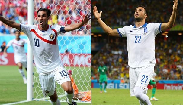 Globo exibe Costa Rica x Grécia pelas oitavas de final neste domingo (Foto: Divulgação FIFA / Getty Images)