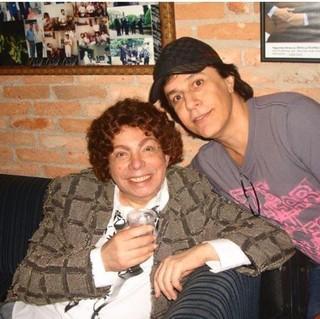 Cauby Peixoto com Tom Cavalcante (Foto: Reprodução/Instagram)