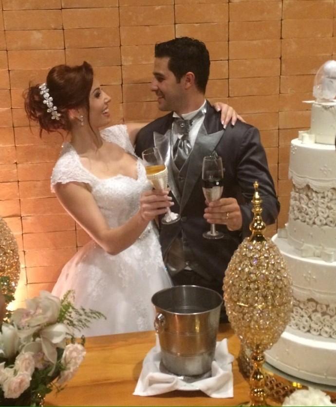Larissa Parison se casa em São Paulo (Foto: Arquivo Pessoal)