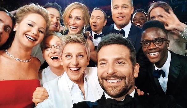 A icônica selfie no Oscar (Foto: Instagram/Reprodução)