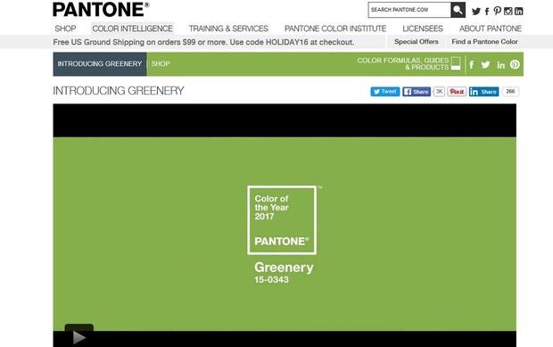 Pantone elege greenery como a cor de 2017 (Foto: Reprodução/Site Oficial)