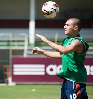wagner fluminense treino (Foto: Bruno Haddad / FluminenseFC)