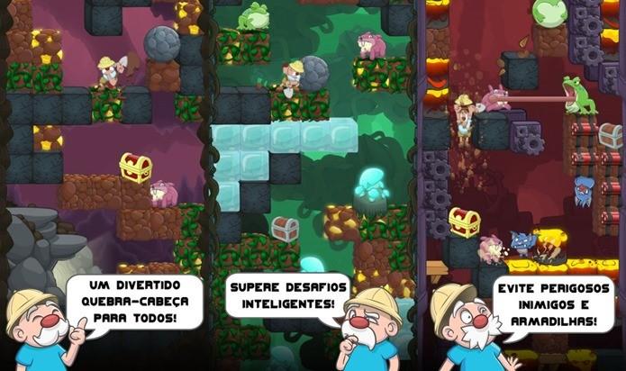Escave para descobrir muitos tesouros neste divertido game para iPhone e iPad (Foto: Divulgação)