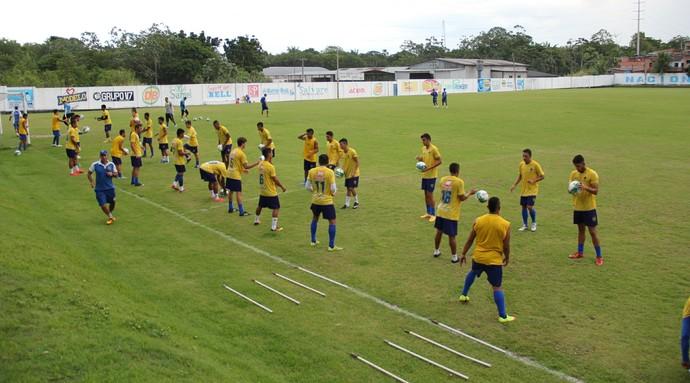 """Primeiro treino do """"novo"""" Nacional aconteceu nesta segunda (Foto: Marcos Dantas)"""