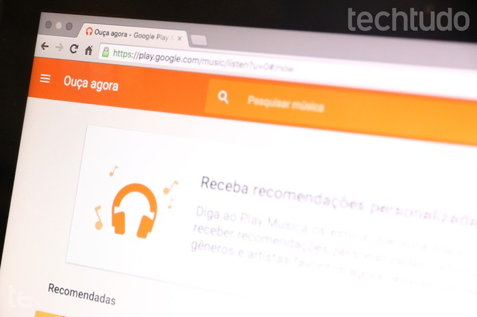 Google Play Music no PC (Foto: Melissa Cruz/TechTudo)