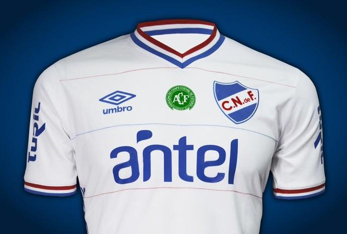 Nacional do Uruguai jogará com escudo da Chapecoense (Foto: Divulgação/Nacional)