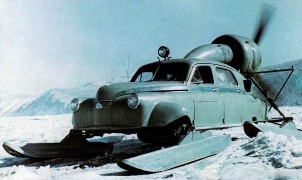 Para enfrentar a neve siberiana, Gaz ganhou esquis e motor a hélice (Foto: Divulgação)