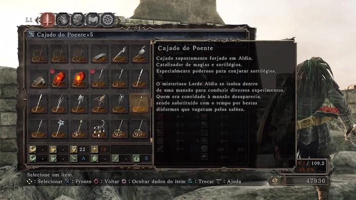 Dark Souls 2: Scholar of the First Sin: Cajado do Poente (Foto: Reprodução/Victor Teixeira)