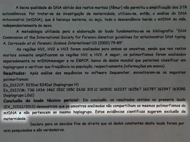 Teste de DNA nega ligação entre corpo de bebê e suposta mãe em Franca (Foto: Claudio Oliveira/ EPTV)