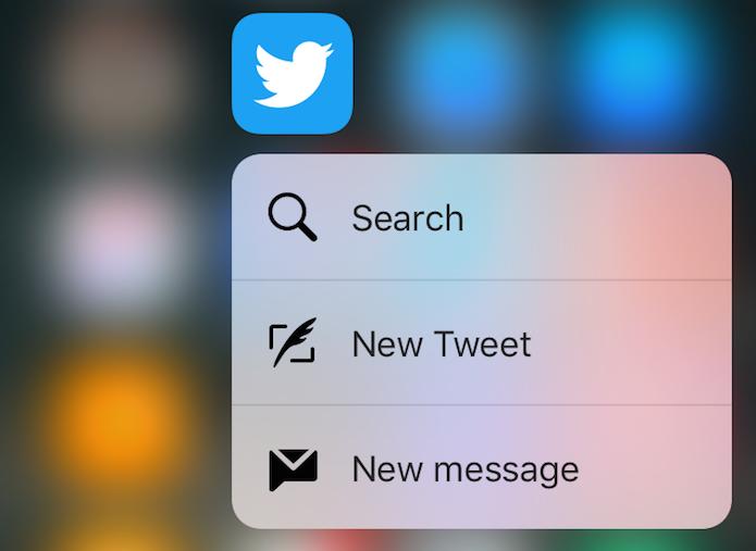 Twitter com suporte ao 3D Touch (Foto: Reprodução/AskDaveTaylor)