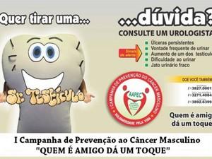 """Em 2012 o """"Sr. Testículos"""" estrelou a campanha da AAPEC: """"Quem é amigo dá um toque"""". (Foto: Divulgação/Site da AAPEC)"""