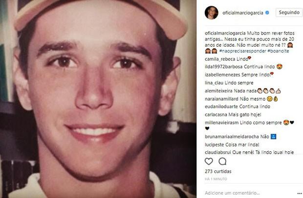 Márcio Garcia em foto antiga (Foto: Reprodução/Instagram)
