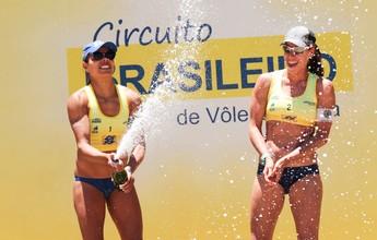 Etapa de São José (SC) tem estreia de duplas Juliana/Rebecca e Elize/Taiana