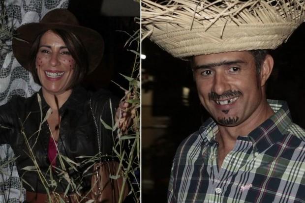 Glória Pires e Marcos Pasquim em festa julina no Rio (Foto: Isac Luz/EGO)
