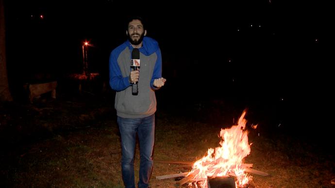 Diego achou uma fogueira em Pedra Azul (Foto: Divulgação / TV Gazeta ES)