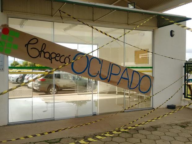 IFSC Campus Chapecó também está ocupado (Foto: Grêmio Estudantil Integrar - IFSC Campus Chapecó/Divulgação)