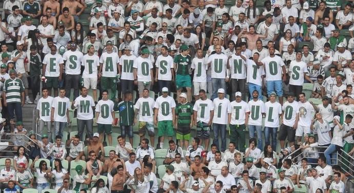 Torcida do Palmeiras prometeu união rumo ao título brasileiro: hora da arrancada final (Foto: Rodrigo Faber)