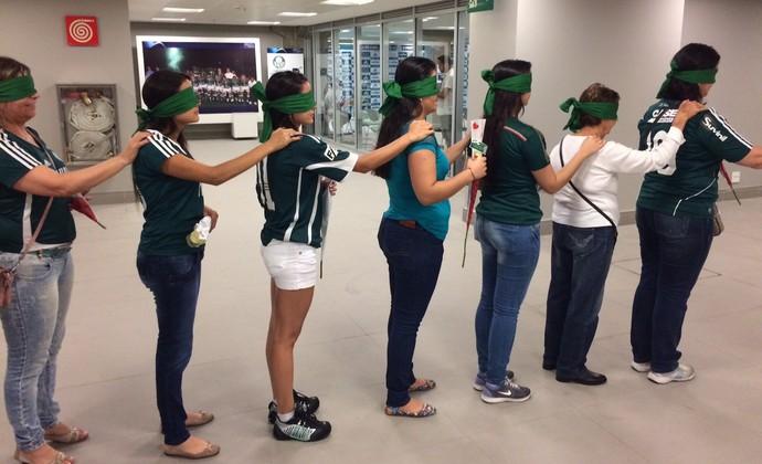 Palmeiras homenagem Dia da Mulher (Foto: Felipe Zito)