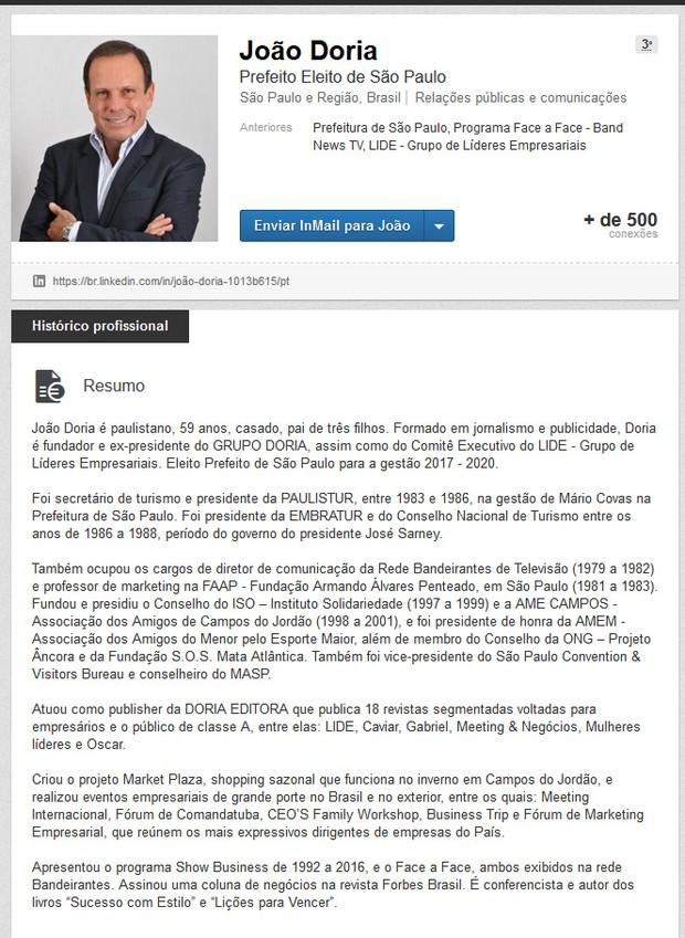 João Doria  (Foto: Linked / Reprodução )