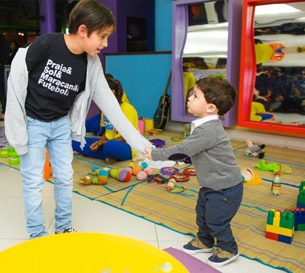 Lucas e Gabriel (Foto: Reprodução)