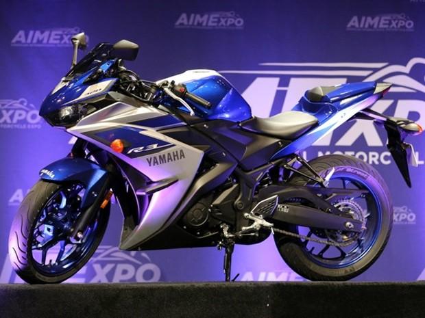 Yamaha YZF-R3 foi apresentada na AIMExpo nos Estados Unidos (Foto: Divulgação)