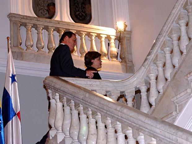 Dilma, então ministra de Minas e Energia, com o ministro do Desenvolvimento, Indústria e Comércio Exterior Luiz Fernando Furlan, em 2005 (Foto: Valter Campanato/ABr)