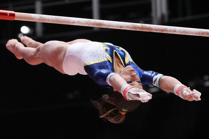 Jade Barbosa treino mundial de ginástica glasgow (Foto: RICARDO BUFOLIN/CBG)