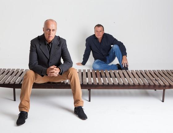Marcelo Vasconcellos e Alberto Vicente são os sócios da Mercado Moderno, conhecido também como Memo Galeria (Foto: Felipe Varanda)