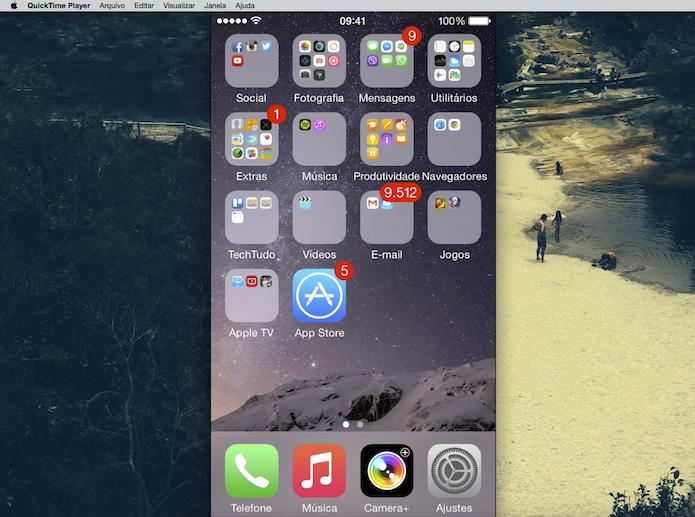 Gravando a tela do iOS no Yosemite (Foto: Reprodução/Marvin Costa)