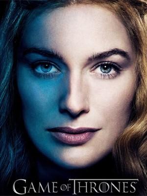 A atriz Lena Heady, que vive a rainha Cersei em 'Game of thrones', em cartaz da série (Foto: Divulgação)