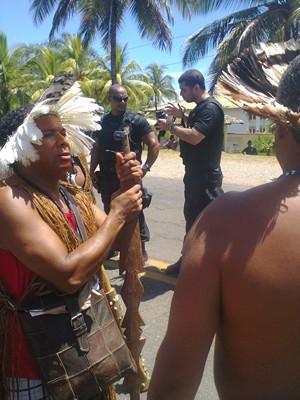 Protesto na Bahia (Foto: Walney Magno/ Arquivo Pessoal)