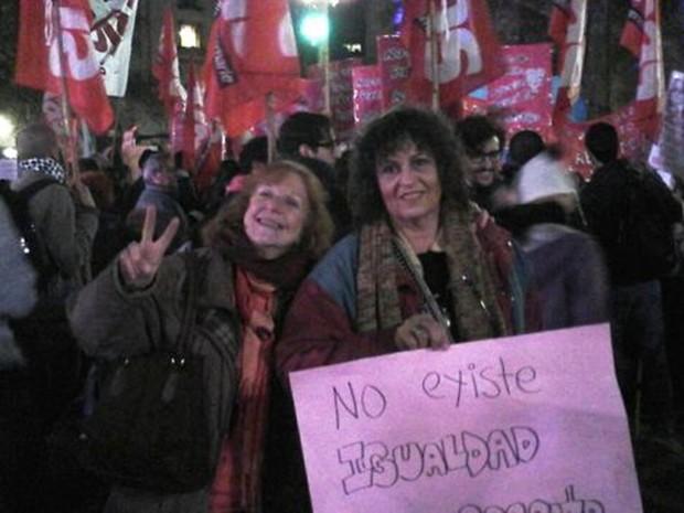 Susana Blois (à esq.) e a companheira Nora (Foto: Arquivo pessoal)